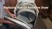 Kenmore Dryer Belt Replacement (Whirlpool Dryer) - YouTube on