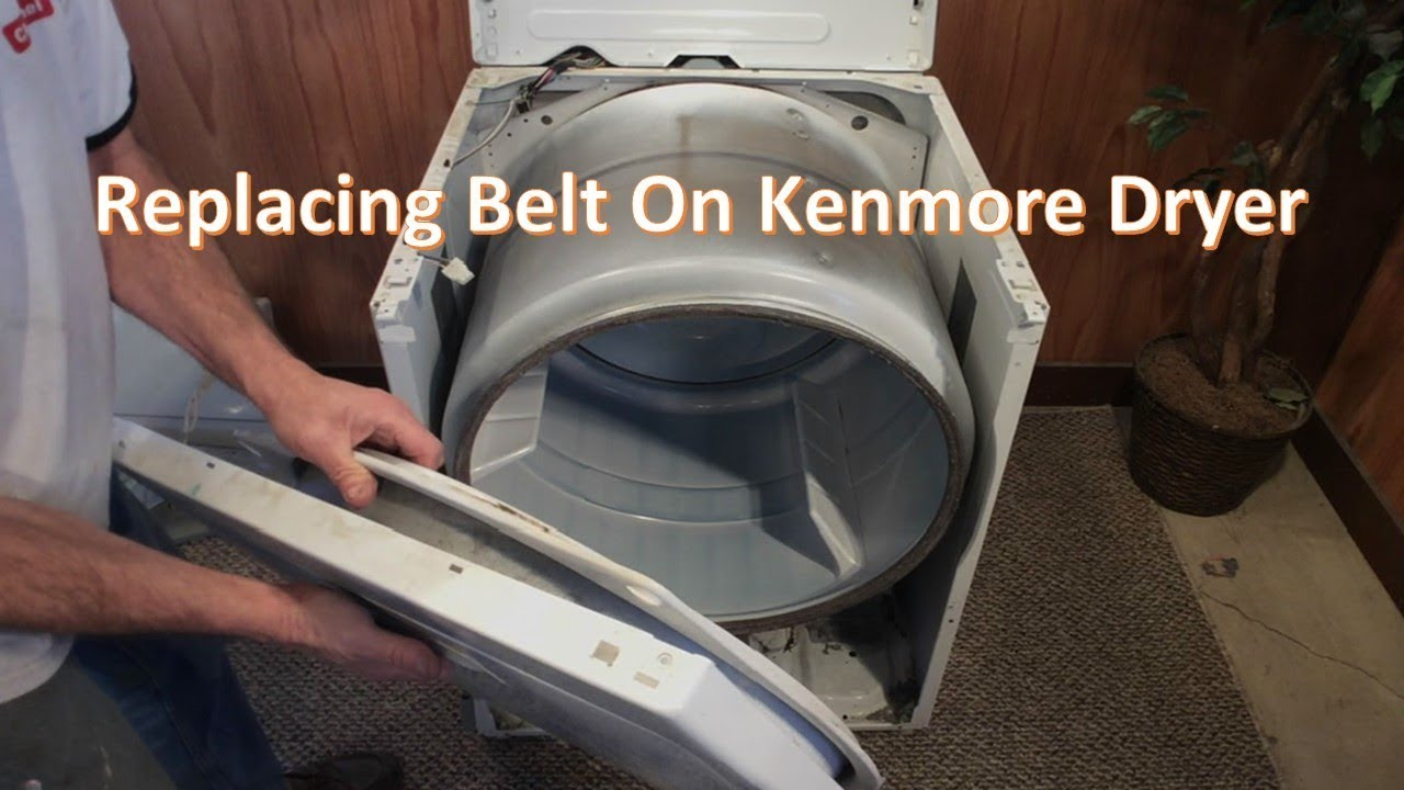 Replacing Belt On Kenmore Dryer on