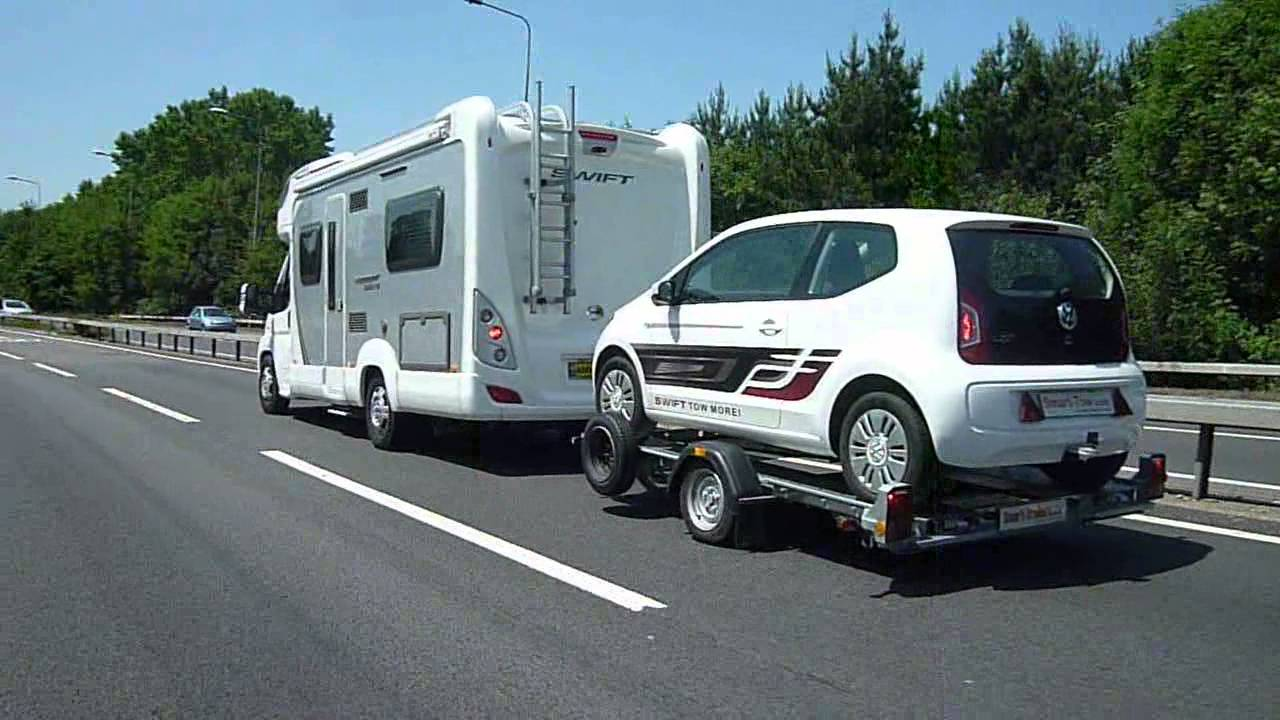 Smart Trailers Leaders In Small Car Towing Vw Up Being Towed
