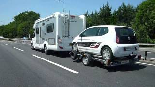 Smart Trailers, Leaders in Small Car Towing - VW Up being towed