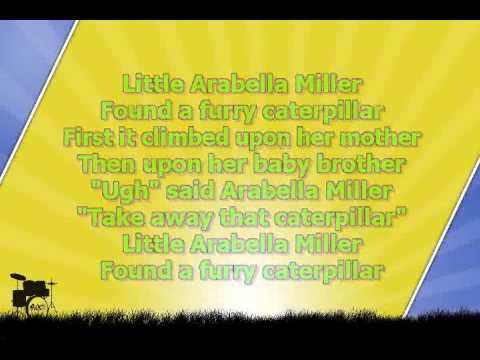Karaoke for kids   Little Arabella Miller   fast   with backing melody