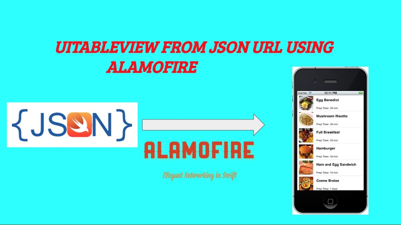 UITableview From JSON URL USING Alamofire Swift 3