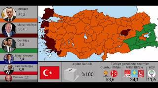 24 Haziran Cumhurbaşkanlığı genel seçimleri(Harita)