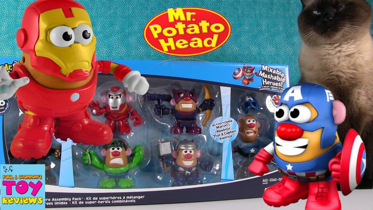 Marvel Mr Potato Head Mixable Mashable Heroes Avengers Black Widow New Loose