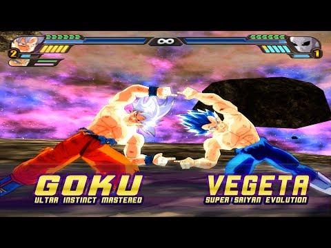 Goku Ultra Instinct and Vegeta SSGSSE Fusion | Gogeta Ultra Instinct | DBZ Tenkaichi 3 (MOD)