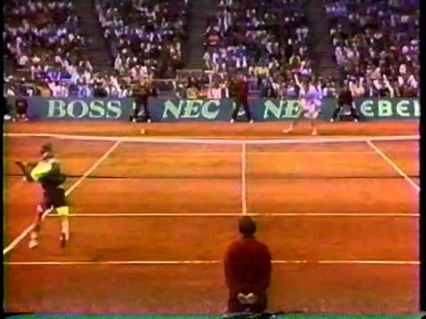 USA vs Australia Davis Cup 1990 highlights Agassi Chang