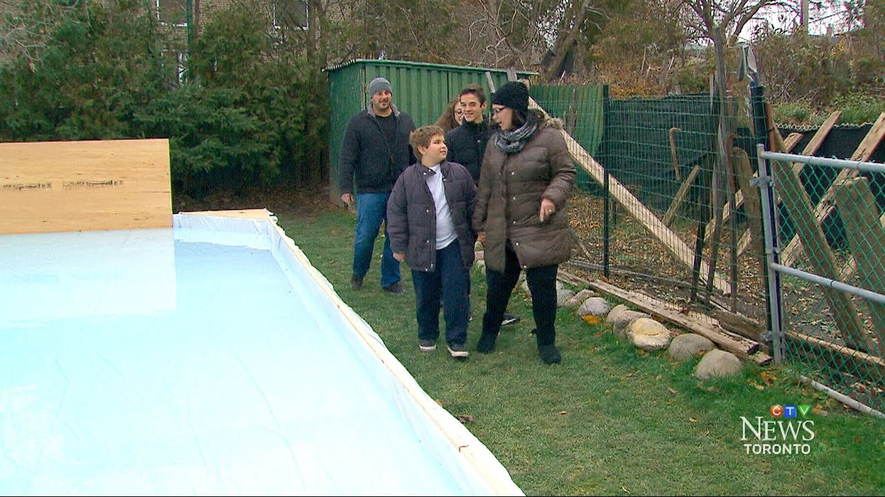 boy battling leukemia receives ice rink from lance brown youtube