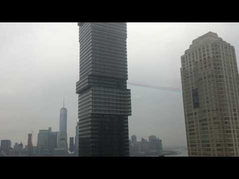 French Alpha Jet Hudson River NYC Flyover 3/24/2017