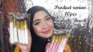 Product review : 10pcs Kabuki Brush!