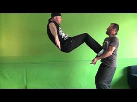 flying drop kick - slow mo