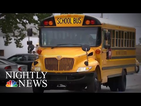 Video Captures Indiana School Bus Driver Allowing Kids To Drive Vehicle   NBC Nightly News