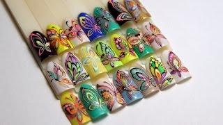 Рисуем бабочек: контур, акварельный и бархатный эф...