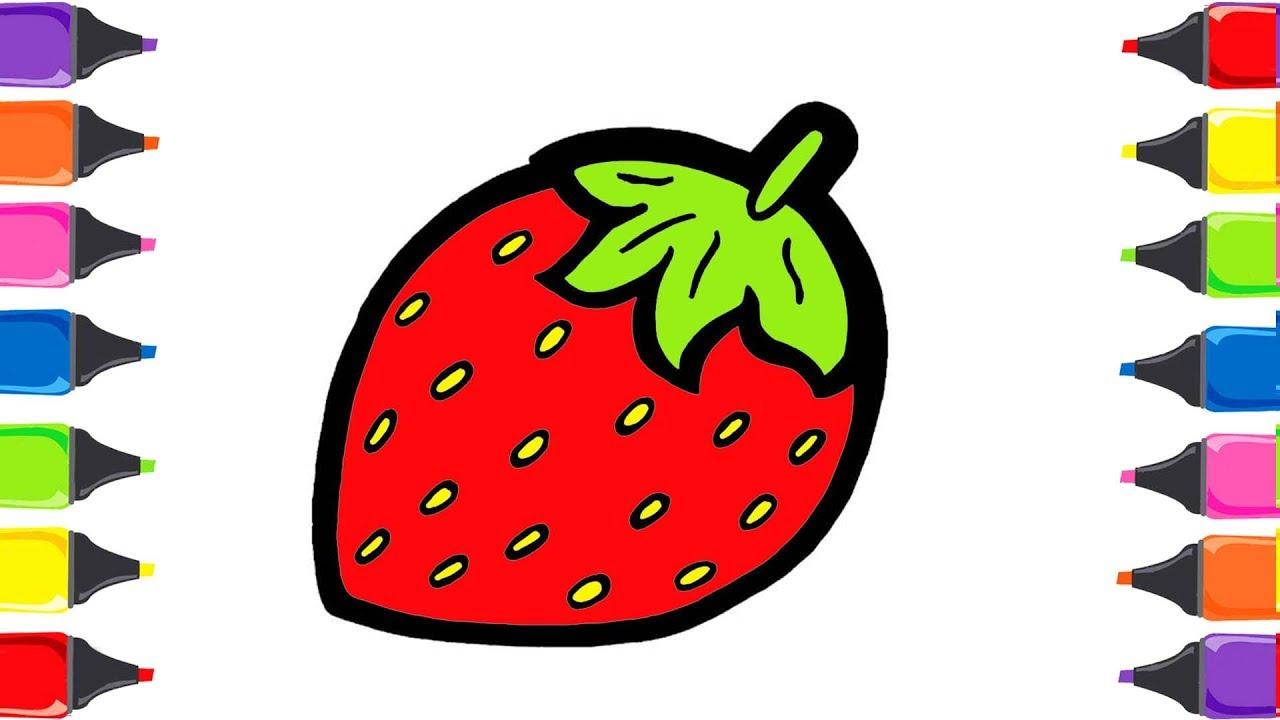 çilek Boyama Meyveleri öğreniyorum Meyveler Boyama çocuk şarkıları