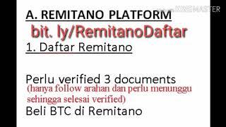 CARA DAFTAR REMITANO #BTC #DDK