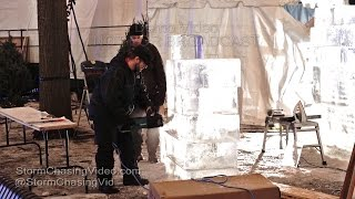 Saint Paul Winter Carnival, Warm Ice Carving In Rice Park