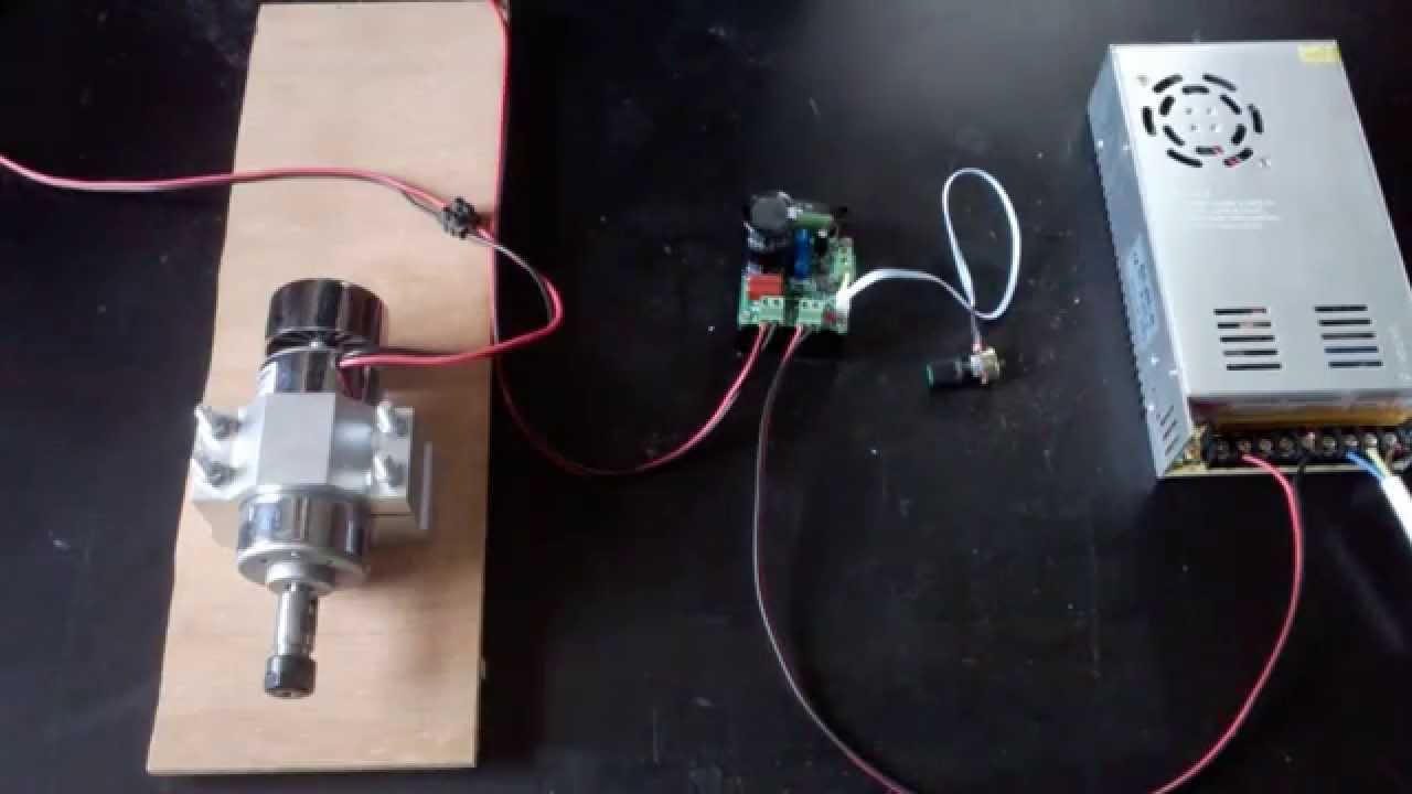 d monstration broche cnc 48 volts avec variateur de vitesse youtube. Black Bedroom Furniture Sets. Home Design Ideas