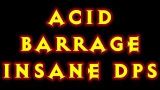 Diablo 3 Witch Doctor Build Acid Barrage! Insane DPS! 2.0.1