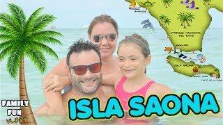 Vamos a una isla paradisíaca del caribe, Isla Saona 🌴 Family Fun Vlogs en República Dominicana