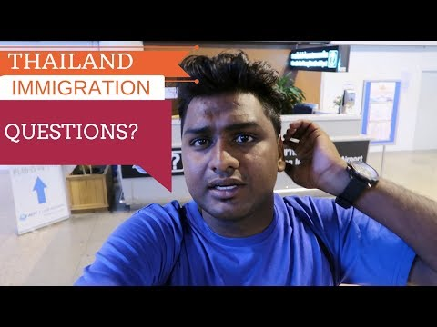 Thailand Visa on Arrival for Indians and Immigration Questions ||Everything Recorded and Explained||