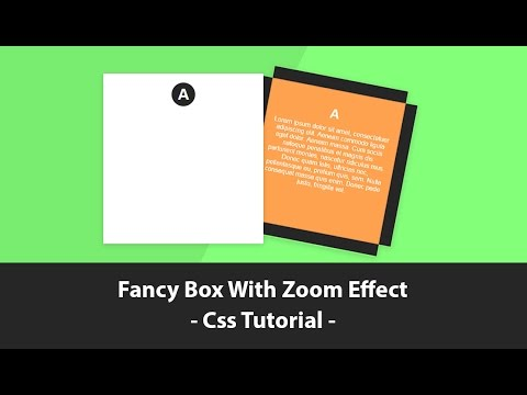 Fancy Box With Zoom Effect - Css Transition. Online Tutorials  sc 1 st  YouTube & Fancy Box With Zoom Effect - Css Transition - YouTube Aboutintivar.Com