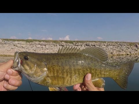 Fishing In Bresler Reservoir In Lima, Ohio For Bass, Bluegills, Drum, Bullhead Catfish, Walleye.