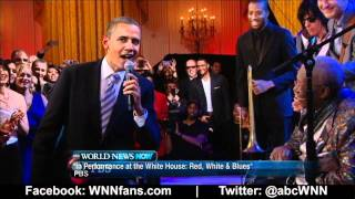 President Obama Sings the Blues