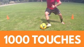 Soccer Drills - 1000 Touches Workout Dribbling Session