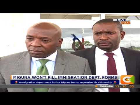 Citizen Extra: Miguna Miguna won't fill Immigration Dept forms