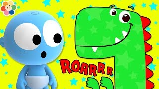 GooGoo Baby New Series - Funny Baby Playing With Dinosaurs | Learn Colors With GooGoo Baby