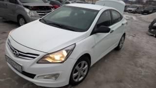 Hyundai Solaris I Рестайлинг 2014 г, АКПП, белый цвет Хундай Солярис, 2014 г. смотреть