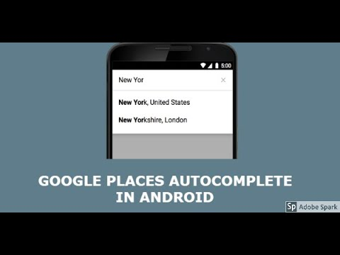 Google places autocomplete android example