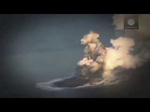 Amazing VOLCANIC ISLAND emerge from the OCEAN off JAPAN 11.21.13