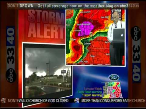 ABC 33/40 Coverage of the April 27, 2011 Outbreak (8:00 to 8:30 pm)