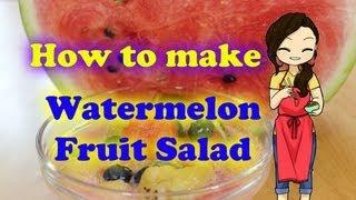 Korean Watermelon Fruit Salad -- Pobmogo