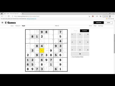 Hard Sudoku New York Times April 5