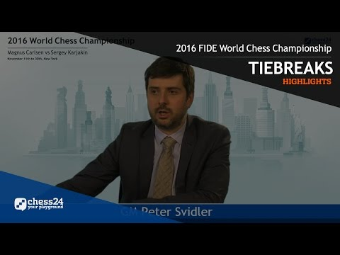 2016 FIDE World Chess Championship - Highlights - Tiebreaks