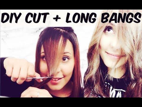 DIY HAIRCUT | Long Layers + Long Bangs - YouTube