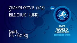 Qual. FS - 60 Kg: I. BILEICHUK (UKR) Df. B. ZHAKSYLYKOV (KAZ), 10-6