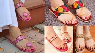 Kolhapuri chappals design ideas for kurti, saree/college  wear Kolhapuri chappals design ideas/buy