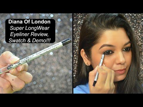 "Diana Of London Super Longwear Eyeliner | ""Blackest Black"" | Review, Swatch & Demo!!!"