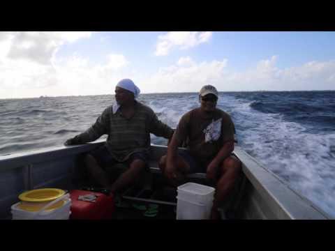 Tuvalu Funafuti conservation area Navigation vers Tepuka island / Tuvalu Funafuti Road to Tepuka
