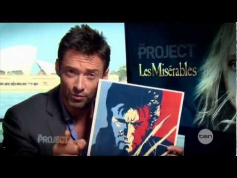 Hugh Jackman interview on The Project (2012) - Les Misérables