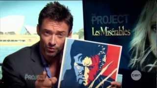 Hugh Jackman interview on The Project (2012) - Les Misérables
