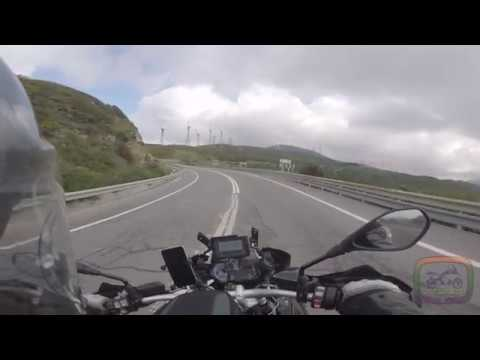 BMW R1200GS fighting against the wind of Tarifa