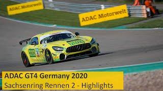 Baby-Mamba Beißt Zu   ADAC GT4 Germany 2020   Sachsenring   Rennen 2 - Die Highlights