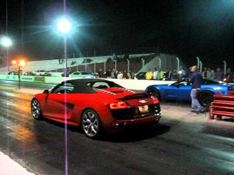 Audi R8 Spyder V10 Vs Chevrolet Corvette Z06 YouTube