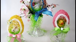 String Easter Eggs Decoration Filled ~ Featuring Miriam Joy