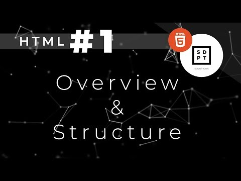 HTML Tutorial #1: Overview & Structure | Filipino