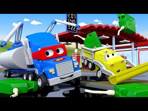 การ์ตูนรถบรรทุกสำหรับเด็ก เจ้ารถบรรทุกน้ำมัน  🚚 คาร์ซิตี้  การ์ตูนรถบรรทุกสำหรับเด็ก Truck for Kids