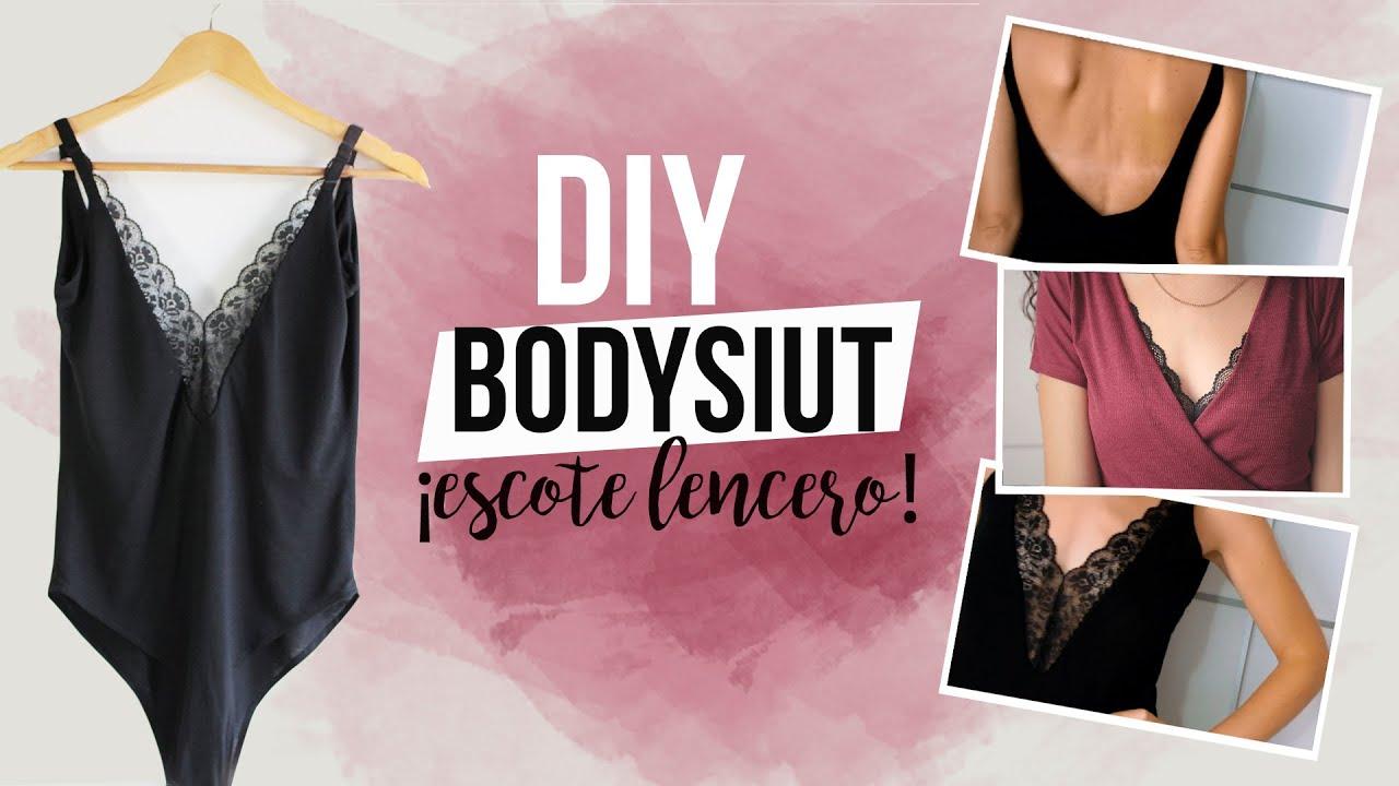 DIY BODYSUIT   Cómo hacer un body lencero - YouTube